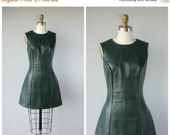 25% OFF SALE... Vintage Mod Dress | Pleather Dress | Vintage 80s Dress | 80s does 60s Dress | Vintage 1980s does 1960s Dress | Faux Leather