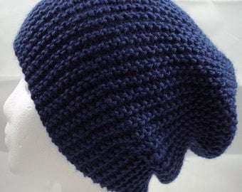 Allison Slouch Beanie - Blue - MADE TO ORDER
