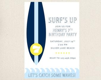 Surf's Up Birthday Invitation