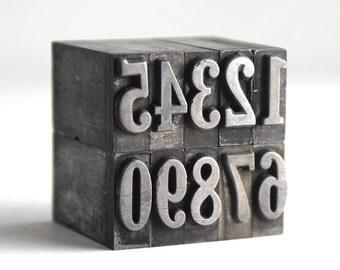 NUMBERS - 36pt Metal Letterpress (Cheltenham)