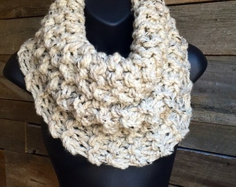 Outlander Inspired Cowl, Chunky Knit Scarf, Womens Winter Infinity Cowl, Sassenach, Wide Scarf, Fall Circle Scarf, Outlander Cowl Scarf