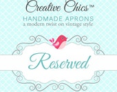 Reserved for marisolcaval74 - 3 aprons