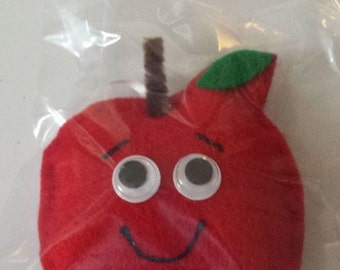 Whimsical Apple Ornament
