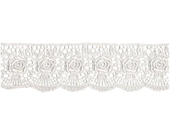 1-3/4 Inch Lace by the Yard Roses  WRI1861006030