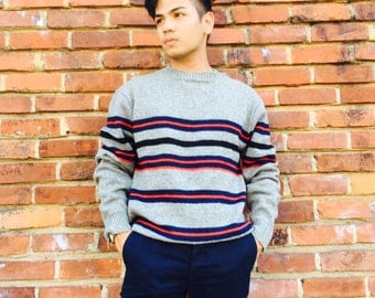 Vintage Striped Thalhimers Knit Sweater