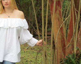 Cotton Off-the Shoulder Blouse