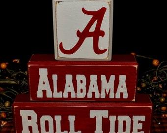 University of Alabama wood blocks sign