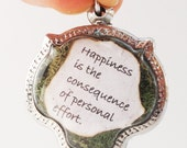 Happiness is the Consequence of Personal Effort, Faux Stone Heart Terrarium Locket Necklace, Eat Pray Love Quote, Elizabeth Gilbert, Catface