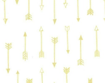 Michael Miller - Arrow Flight Collection - Arrows in Bright White Metallic - Fat Quarter
