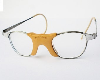 Vintage Eyewear, Safety Glasses, Hipster Glasses, American Optical, All-American Dork Glasses