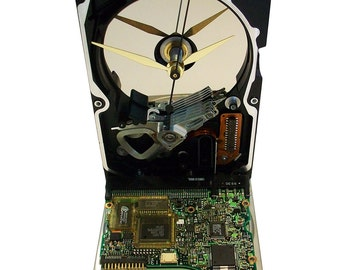 Hard Drive now a Clock with Rare Circuit Board Accenting the Base. Got Company Award?