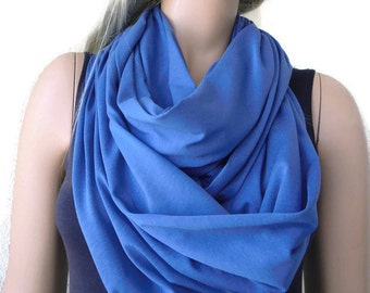 Soft Denim Blue   infinity scarf -Nomad Cowl -Super soft cotton cowl-Fall Accessories