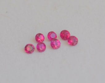 Ruby, Red Ruby, Round Ruby, Ruby Melee, African Ruby, Ruby Rounds, Red Round Gemstone, Ruby for Halo, 1.5mm Ruby, Ruby for Gemstone Setting