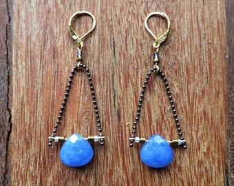 Blue Moon Dangles (Lapis Lazuli) - Moon Seed Designs