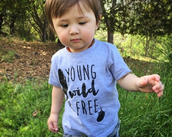 Young Wild and Free Baby Bodysuit - Available in various colors and Sizes