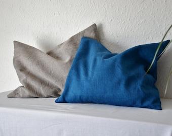 Meditation cushion indigo blue buckwheat hulls pillow small travel natural dyes sustainable eco organic minimalist ethical natural grey boho