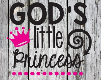 SVG, PNG, Studio3 Cut File, God's Little Princes, Silhouette Cut File, Cricut Cut File, Bible Verse, Scripture, King of Kings