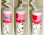 Coloring Book in a Cup with Crayola Crayons 4 drawings Reusable Cup Paper Banner Stickers Kid Fun 4 Parties Weddings Birthdays Gifts Travel