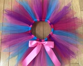 Girls Birthday tutu skirt- Abby Cadabby Costume- Abby Cadabby Tutu- Turquoise tutu, Fuchsia Tutu- Girls Fairy Costume- Blues Clues Party