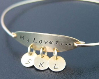 Personalized Mom Bracelet, Mothers Day Gift From Daughter or Son, Mothers Jewelry, Mothers Bracelet, Sentimenal Gift, Sentimental Jewelry
