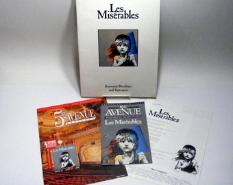 Les Miserables Souvenir Brochures 5th Avenue Theater Seattle, WA 1992 & 1996
