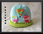 Knitted Hat Pattern Baby Hat Pattern Infant Hat Pattern Newborn Hat Pattern:  HOT AIR BALLOON