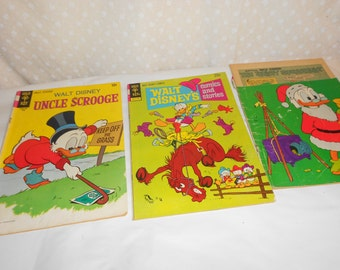 Comic Book Uncle Scrooge and Donald Duck group of 3