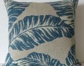 Blue leaf decorative pillow cover - Magnolia Home Fashions Chiquita Cove
