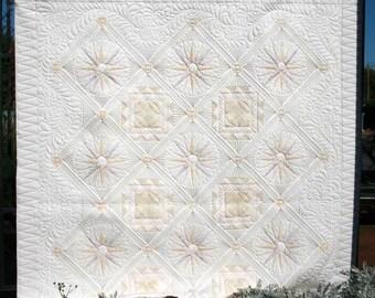 Quilt KIT - Timeless Treasures Whisper Tonga Batik Fabric, Wind Rose Quilt Kit 56 x 76 by Whirligig Designs, Chris Hoover