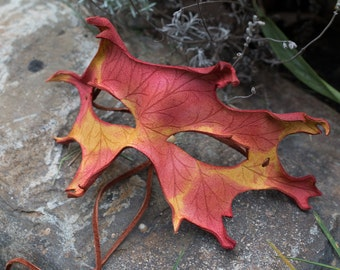Leather Mask Oak Leaf