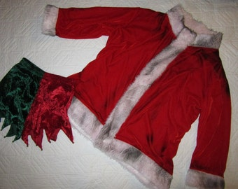 Sooty Santa unique Halloween costume mens size M jacket shorts naughty Santa dirty