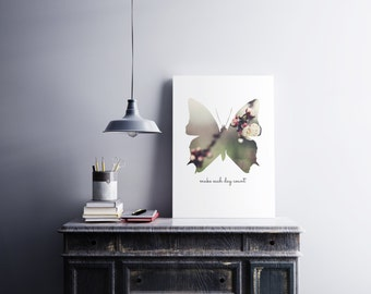 Printable Butterfly Shape Art - Make Each Day Count - Buy & Support