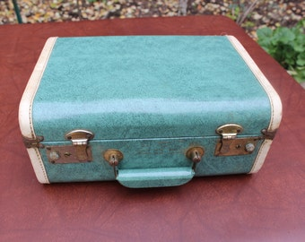 Accessary Suitcase Small Blue Luggage VINTAGE by Plantdreaming