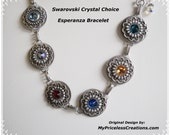 valentines day gift special lady mothers and grandmothers vintage style swarovski crystal silver bracelet