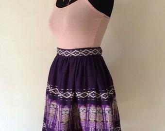 1950s Hand Woven Full Skirt Sz M