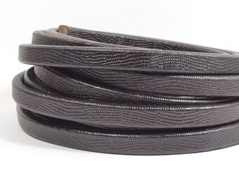 Regaliz Stipple Texture Leather - Black - Choose Your Length