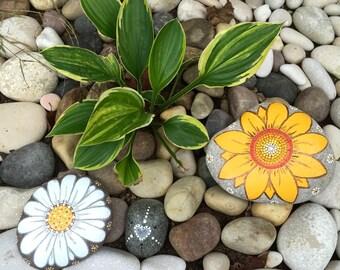 Big Outdoor Sunflower or Daisy Rock