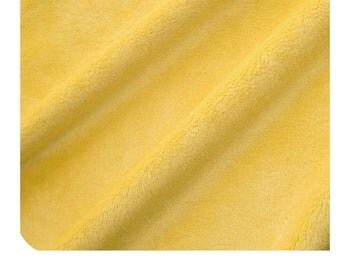 Shannon Fabrics Solid Cuddle 3 Lemon Minky