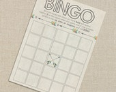 Baby Shower Bingo - Tribal Aztec and Arrows - Fall Colors - Digital Printable File