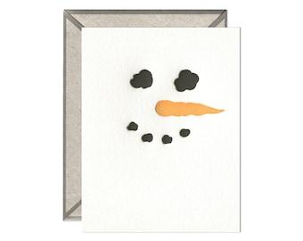 Snowman letterpress card