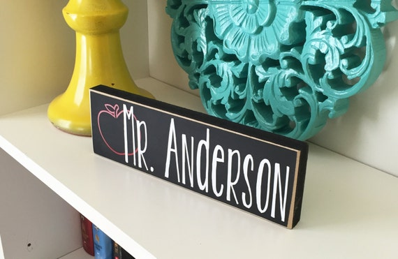 Classroom Decor Gifts ~ Personalized teacher block gift classroom