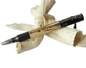 Spalted Sycamore Handcrafted Bullet Bolt Action Pen with Rifle Clip Father Dad Grandpa Handmade Gift by CraftCrazy4U