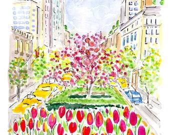 Park Avenue in Bloom