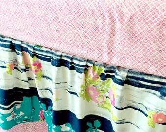Crib Skirt, Floral Dust Ruffle, Gathered Crib Skirt, Pink Crib Skirt, Baby Dust Ruffle, Lavish Crib Skirt, Girl Crib Skirt, Crib Dust Ruffle