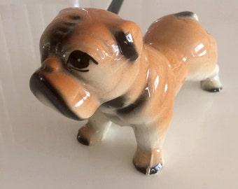 Sale Vintage 40's 50's era Ceramic English Bulldog Figurine