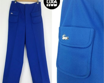 Vintage Preppy Alligator Lacoste Blue Haymaker Pants!