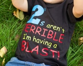 Terrible Twos,s shirt 2nd birthday, funny shirt, boys tshirt, toddler t shirt