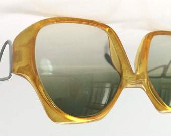 70s Vintage German Marwitz Funky Golden Sunglasses