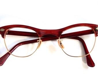 1950s Cats Eye // Art Craft brand // 50s Horn Rimmed Eyeglasses // Tortoiseshell // USA