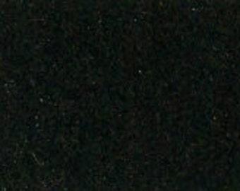 100% Wool Felt 20cm x 30cm 1.5mm thick - 540 Black